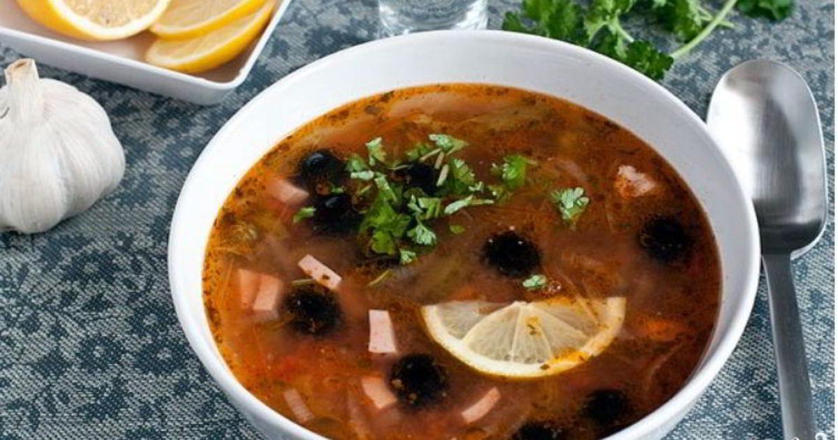 Рецепт густой солянки с фото пошагово